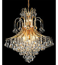 Palace Contour 15 Light Crystal Chandelier Ceiling Light Gold 25