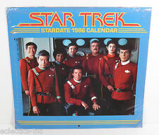 STAR TREK STARDATE CALENDAR 1986 POCKET BOOKS SEALED!
