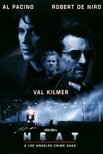 "HEAT Movie Silk Fabric Poster 11""x17"" Al Pacino  Robert De Niro"