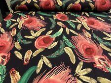 """tela de Vestido"""" Hojas"""" 150cm br.pl / EA C. motivos cada 50cm"""