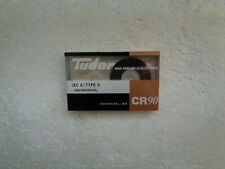 Vintage Audio Cassette TUDOR CR 90 * Rare From Spain 1980's *