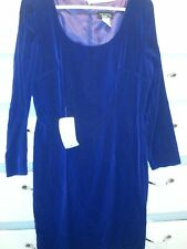 Late Edition Blue Velvet Dress Petite Size 12