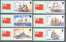 Jersey-Royal Navy Ships mnh 2001 (979-984)-Sailing ships