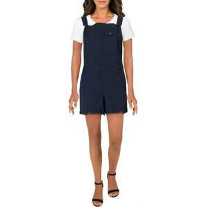 Chaser Womens Cotton Blend Frayed Hem Vintage Shortalls BHFO 5690
