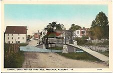Carroll Creek and Old Town Mill in Frederick MD Postcard