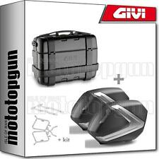 GIVI TOP CASE BLACK TRK33B + VALISES LATERALES V37NT SUZUKI SV 650 2018 18