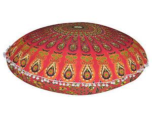 "Large 32"" Floor Mandala Pillow Cushion Indien Round Bohemian Throw Pouf Cover"