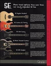 The PRS SE Series Custom 24 7-string 245 Soapbar Angelus guitars 8 x 11 ad print