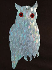 BirdBusters 5 Holographic Owl Bird Diverters- Highly Effective at Scaring Birds