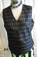 "STEAMPUNK Marc Aural label.Waistcoat.blue & gold ,Vintage. size 40"" chest.Unisex"