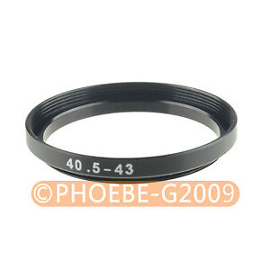 40.5mm to 43mm 40.5-43 mm Step Up Filter Ring  Adapter
