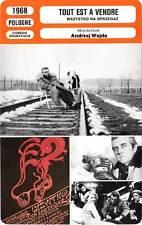 FICHE CINEMA : TOUT EST A VENDRE - Tyszkiewicz,Wajda 1968 Everything For Sale