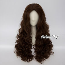 Anime for Bellatrix 60CM Long Curly Dark Brown Heat Resistant Party Cosplay Wig