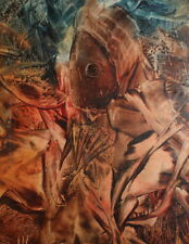 1993 Abstract Encaustic figural painting signed