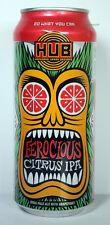 Ferocious Citrus IPA Beer Can, HUB Brewing Company, Oregon Craft Micro Brew