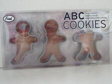 Fred ABC Gingerbread Man Cookie Cutters New