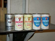 25 Diff Drewry Draft/ Beer Cans 5=Ft O.I.+ Zips/ Funels/Pt S Bend, Ind/ Chicago