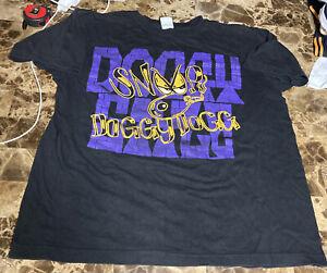 Vintage RARE Snoop Doggy Dogg Doggystyle T-Shirt Death Row Purple ,Yellow, Black