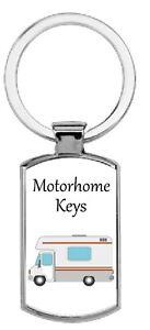 Rectangular Motorhome Keys Metal Keyring Gift Present