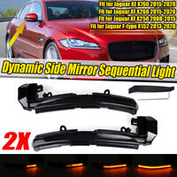 Dynamic LED Side Mirror Indicator Light For Jaguar XE X760 XF X250 XJ X351 XK