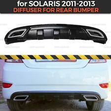 Diffuser for Rear Bumper Hyundai Solaris 2011-2013 body kit ABS plastic