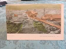 Rare 1908 SLATINGTON Pennsylvania PA Slate Quarry Stone Mine Post Card