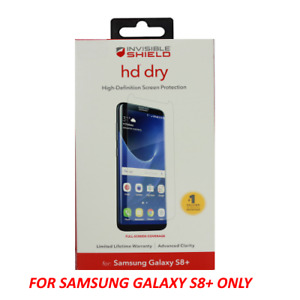 ZAGG Full Screen HD Dry Invisible Shield Screen Protector for Samsung S8+ Plus