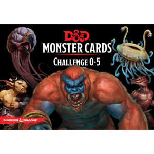 D&D Spellbook Cards Monster Cards Challenge 0-5 - Dungeons and Dragons