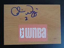 CANDICE WIGGINS Signed WNBA Floor Tile NEW YORK LIBERTY Basketball STANFORD