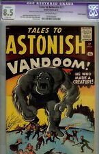 TALES TO ASTONISH #17- CGC 8.5- SLIGHT RESTOR- KIRBY B.E.M. CVR-1961 PREHERO