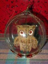 Vintage West German - Hand-Blown Glass Christmas Ornament w/BROWN OWL