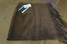 RALPH LAUREN BLACK LABEL ELLERY SUEDE TASSEL SKIRT SZ 14 US 10 RP £1600