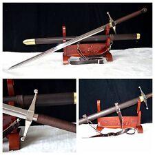 European Medieval Claymore Long Sword-1095 Carbon Steel-Handmade Functional#1020