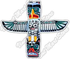 "Totem Pole Indian Native american Apache Car Bumper Vinyl Sticker Decal 4.6"""