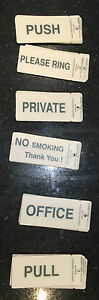 Self Adhesive Stick On Labels Signs (50mm x 100mm)