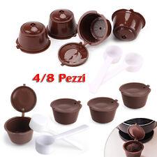 4/8 x Cialde riutilizzabili capsule di caffè compatibili per Dolce Gusto Miscela
