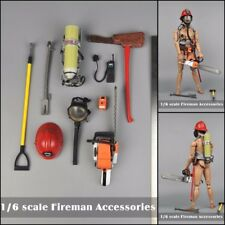 1/6 Scale Fireman Accessories Helmet Mask Tools Set For 12'' Figure Hot Toys