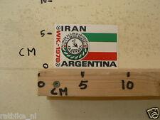 STICKER,DECAL WK ARGENTINA 1978 VOETBAL,SOCCER JH HENKES IRAN