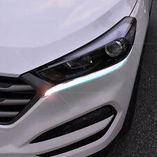 For2016 2017 Hyundai Tucson Chrome Head Light Trim Cover Garnish Molding Styling