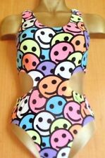 NEON/PINK/WHITE/TURQUOISE/RED/BLUE/LYCRA LEOTARD/LYCRA/7/9 YEAR/FACES/DANCE