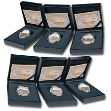ESPAÑA: II serie PATRIMONIO NACIONAL 6 x 5 euro plata 2014 proof  4 Reales plata