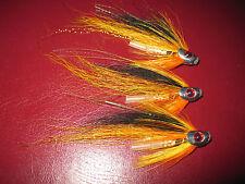 3 V Fly 1 Inch Ultimate Silver Cascade Skullhead Salmon Tube Flies & Trebles