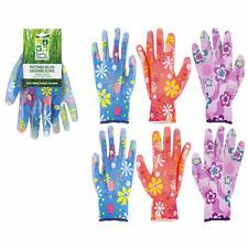 2 Pairs Ladies   Girls Floral Gardening Garden Craft  Gloves General Work Gloves