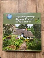 Brand New Puzzle World English Village Cottage 1000 Piece Jigsaw Puzzle