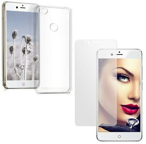 For ZTE NUBIA Z11 CLEAR CASE + TEMPERED GLASS SCREEN PROTECTOR SHOCKPROOF COVER