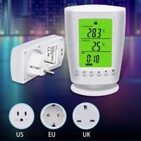 LCD Funk Thermostat Raumthermostat Stecker Schaltzeituhr Steckerdose Weiß 8 Modi