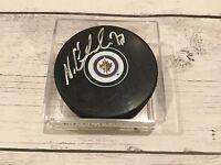 Nikolaj Ehlers Autographed Winnipeg Jets Hockey Puck Signed d
