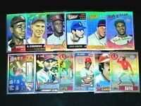 Cardinals HOF CHROME REFRACTOR Lot (12) Topps Archives Gibson, Musial, Brock