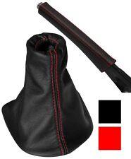 Soufflet de levier vitesse frein 100% CUIR coutures rouges pour PEUGEOT 307