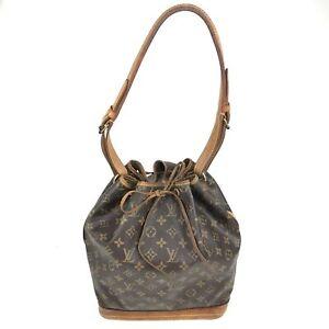 100% Authentic Louis Vuitton Monogram Noe Shoulder Bag M42224 [Used] {09-0340}